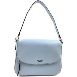 Kate Spade New York Jackson Soft Pebbled Leather Medium Flap Shoulder bag (Frosted Blue)
