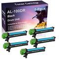 5 Pack (Black) Compatible AL100TD AL110TD AL1000 AL1010 AL1020 AL1041 AL1200 AL1220 Laser Printer Cartridge Drum Unit Replacement for Sharp AL-100DR