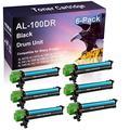 6 Pack (Black) Compatible AL1010 AL1020 AL1041 AL1200 AL1220 AL1250 AL1251 AL1340 Laser Printer Cartridge Drum Unit Replacement for Sharp AL-100DR
