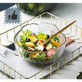 Irregular Edge Glass Bowls, Glacier Serving Small Glass Mixing Bowls Rainbow Color,Salad Bowl, Fruit Bowl,Dessert Bowl (SET)