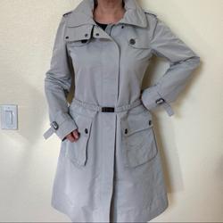 Burberry Jackets & Coats   Light Grey Burberry Raincoat Trenchcoat   Color: Gray   Size: 10