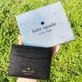 Kate Spade Accessories | Nwt Kate Spade Glitter Card Holder | Color: Black | Size: Os