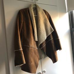Michael Kors Jackets & Coats | Michael Kors Shearling Trim Jacket | Color: Cream/Tan | Size: P
