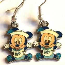Disney Jewelry   Disney Baby Mickey Mouse Earrings Sailor Nautical   Color: Blue/White   Size: Os