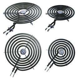 4 Pack - 2 Pack 6 Inch WB30M1 and 2 Pack 8 Inch WB30M2 Range Stove Top Surface Element Burner Unit Kit Replacement Part Compatible for GE Microwave Ovens & Ranges