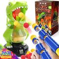 Dinonano Dinosaur Shooting Toy for Kids - Robot Dino Target Shooting Game with 2 Air Pump Toy Guns Digital Score Monitor and 24 Eva Foam Balls Cool Toddler Boys Girls Toys Ages 6 7 8 9+ Years Old