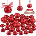 KUUQA 36 Pcs Christmas Jingle Bells Craft Bells Christmas Bells with Star for Christmas Party Christmas Tree Wreath Ornaments Holiday DIY Decorations