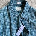 J. Crew Shirts | New J Crew Slim Untucked Stretch Shirt | Color: Blue/Green | Size: S