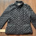 Burberry Jackets & Coats | Burberry Brit Kencott Quilted Black Jacket Size M | Color: Black | Size: M