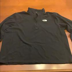 The North Face Shirts | North Face 34 Zip North Face Sweatshirt Black | Color: Black | Size: Xl