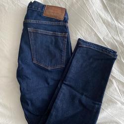 J. Crew Jeans   Jcrew 484 Straight, Blue Denim Jean. Zip Button.   Color: Blue   Size: 28
