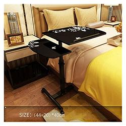 Foldable Laptop Stand Side Table Mobile Table Workstation Lifting Mobile Notebook Table Computer Desk Bedside Sofa Bed 360 Degree Rotating Notebook Computer Desk Folding Laptop Table (Color : A)
