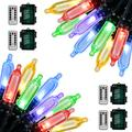 Koxly 18ft Battery Operated String Lights,Outdoor String Lights Christmas Lights 50 Led String Lights with Remote Timer Waterproof for Indoor Outdoor Garden Party Christmas Decoration, Multicolor