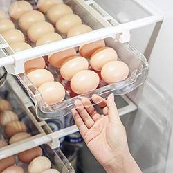Egg Holder For Refrigerator,Refrigerator Organizer Drawer for Eggs, Pull Out Fridge Drawer Organizers Fridge Shelf Holder Storage Box Refrigerator Egg Trays,Egg Storage Container
