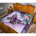 Draw Flower Art Butterfly Amazing Quilt Queen Size - Quilt Patterns All-Season Quilts Comforters with Cotton - King Queen Twin Size Beach Trips, Gifts Quilt