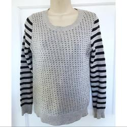 J. Crew Sweaters   Madewell Gray Blue Striped Birds Eye Sweater   Color: Blue/Gray   Size: Xs