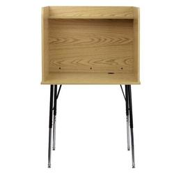 Flash Furniture Laminate Adjustable Height Study Carrel Laminate/Metal, Size 53.5 H x 35.75 W x 30.0 D in | Wayfair MT-M6221-OAK-GG