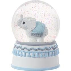 """Precious Moments Precious Moments Love You TonsElephant Resin & Glass Musical Snow Globe, Resin in Blue, Size Small - 4"""" - 7"""" H 