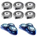 HQ8 Replacement Heads for Philips Norelco Shavers, OEM HQ8 Heads Upgraded, 6-Pack