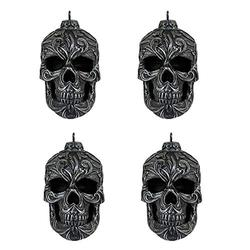 """World of Wonders Grimm Trimmings Gothic Skull (4 Piece) Christmas Ornament Set 