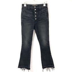 J. Crew Jeans | Point Sur Denim Charcoal High Waist Flared Jeans | Color: Black/Gray | Size: 26