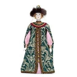 Russian Beauty Hand Made Porcelain Doll in a Fur Hat - 11 Inches