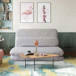 "Latitude Run® Dis Full 44.09"" Wide Pillow Back Futon Chair Scratch/Tear Resistant/Metal/Cotton/Cotton Blend in Brown/Gray/Green | Wayfair"