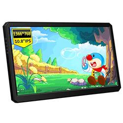 Corkea 10.8 Inch 1366x768 Portable Gaming Monitor with HDMI/USB C/Speakers with Rear Adjustable Stand Compatible with Laptop PS4/5 Switch Win 7/8/10 Phone