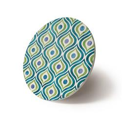Dakota Fields Zinga Tiles IV Trivet Stoneware in Blue/Green, Size 0.5 H x 8.0 D in   Wayfair 193A8E82C67D479380429C31A3755815