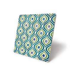 Dakota Fields Zinga Tile IV Trivet Stoneware in Blue/Green, Size 0.5 H x 8.0 D in   Wayfair FE6183AC521F42B59548FEC2ED469225