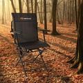 clihome Swivel Hunting Folding Director Chair Metal in Black/Brown, Size 36.0 H x 22.0 W x 21.5 D in   Wayfair HYSN-70412BK-WF