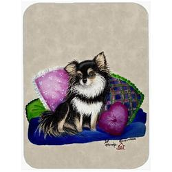 Winston Porter Chihuahua on Their Couch Glass Cutting Board Glass, Size 0.15 H x 15.38 W x 11.25 D in | Wayfair A3ED84B98F174BC49AFD81B7435705F0