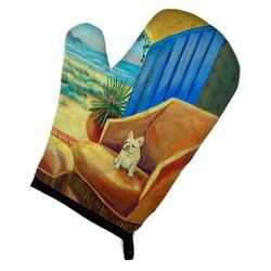 Winston Porter Swoyersville Couch Sitting Oven Mitt Polyester in Blue/Brown, Size 8.5 W in   Wayfair F3D459F2D57B43F78A6DC91B30BCCE33