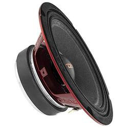 """DS18 PRO-X8.4M Loudspeaker - 8"""", Midrange, Red Steel Basket, 550W Max, 275W RMS, 8 Ohms - Premium Quality Audio Door Speakers for Car or Truck Stereo Sound System (1 Speaker)"""
