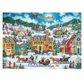 Jigsaw Puzzle for Adults 1000 Pieces, Snowman Celebaration Merry Christmas Holiday Fun Adult Jigsaw Puzzles Educational Games Intense Colors and High Definition Printing 1000Pc Jigsaw (black)
