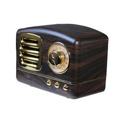 Zunammy Wireless Speakers - Brown Portable Retro Bluetooth Radio & Speaker