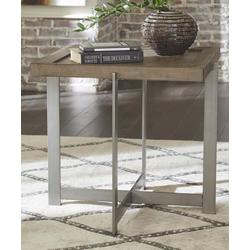 Signature Design by Ashley Furniture End Tables Bisque - Bisque Square Krystanza End Table