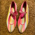 Coach Shoes | Coach Pink Striped Shoes | Color: Pink/White | Size: 6.5