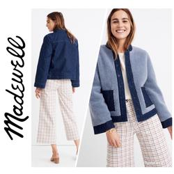 Madewell Jackets & Coats | Madewell Reversible Sherpa Jean Jacket Nwt Blue | Color: Blue | Size: L