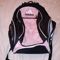 Adidas Bags   Pre-Owned Pink And Black Adidas Soccer Backpack   Color: Black/Pink   Size: Os