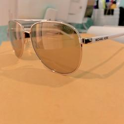 Michael Kors Accessories   Michael Kors Aviator Womens Sunglasses   Color: Gold/White   Size: Os