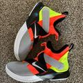 Nike Shoes | Nike Basketball Shoes - Lebron 12 Soldier | Color: Gray/Yellow | Size: 10