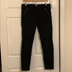 J. Crew Jeans   J. Crew Black Moto Denim Jeans   Color: Black   Size: 10