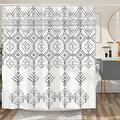 DESIHOM Boho Shower Curtain Bohemian Black White Shower Curtain Tribal Shower Curtain Aztec Shower Curtain Southwestern Polyester Waterproof Shower Curtain 72x72 Inch