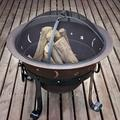 Red Barrel Studio® Bengie Cast Iron Wood Burning Fire PitCast Iron/Iron in Brown/Gray, Size 27.0 H x 29.0 W x 29.0 D in | Wayfair