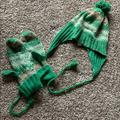 American Eagle Outfitters Accessories | Fair Isle Hat And Mittens Set | Color: Green | Size: Os