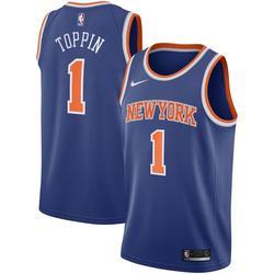 Men's Nike Obi Toppin Royal New York Knicks 2020 NBA Draft First Round Pick Swingman Jersey - Icon Edition
