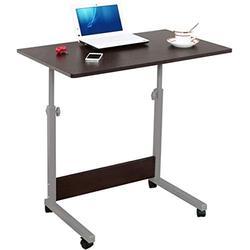 ZLSP-L Mobile Laptop Table Computer Student Laptop Desk Height Adjustable Wooden Tables Computer Standing Desk Mobile Workstation ZLSP-L (Color : Black Walnut, Size : One Size)