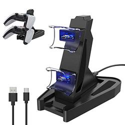 PS5 Controller Charger Station, KIWIHOME PS5 Charging Station Dock for PS5 Playstation 5 DualSense Controller, Dual PS5 Controller Charger Docking Station with Charging Cable and LED Indicator