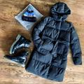 J. Crew Jackets & Coats | J Crew Black Long Puffer Hooded Down Winter Jacket | Color: Black | Size: Xs